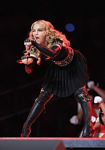 Madge at the big game