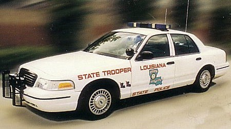 Louisiana State Police Car (Photo Provided By Sgt James Anderson LSP)