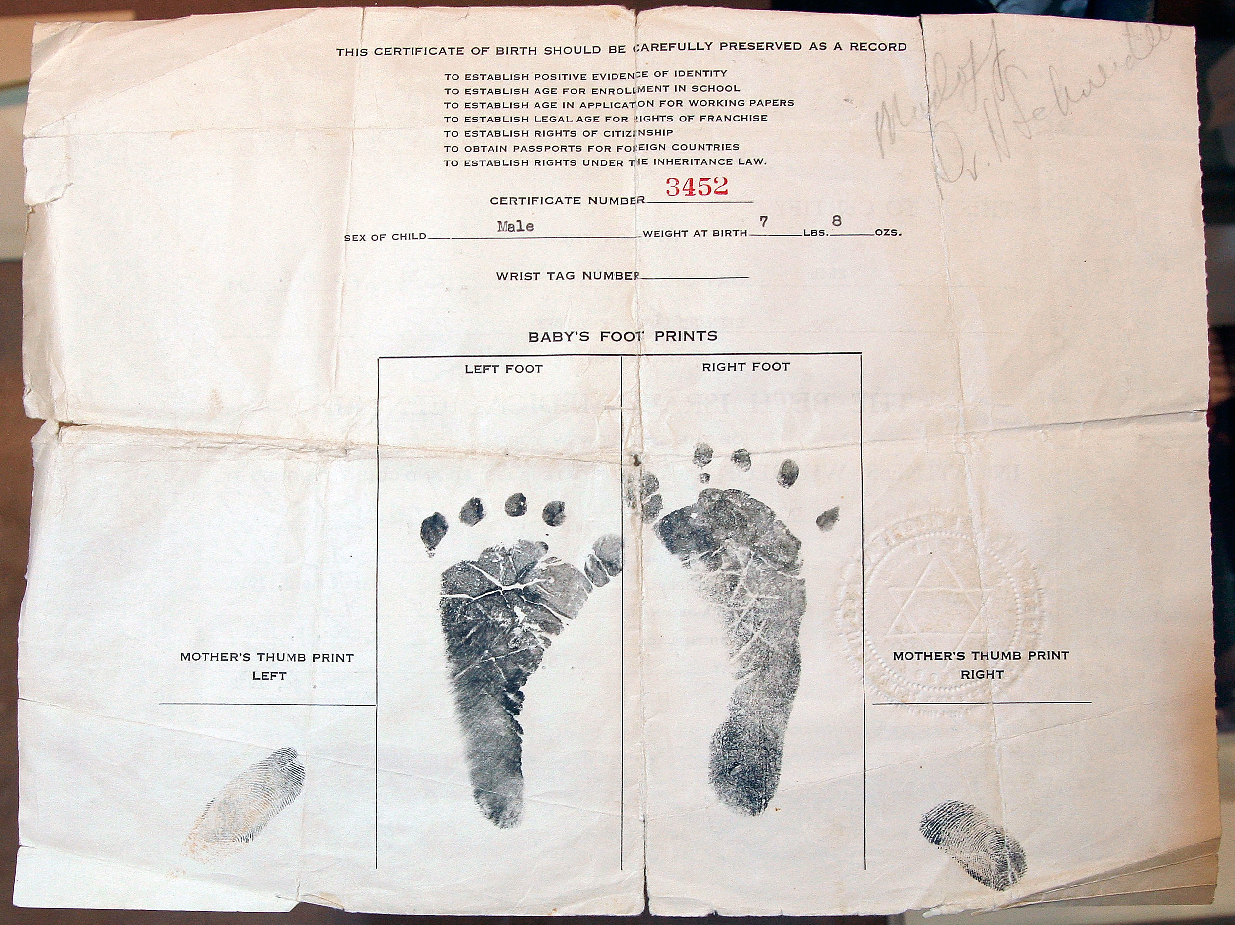 Did you know you can get a copy of your birth certificate in sulphur aiddatafo Choice Image