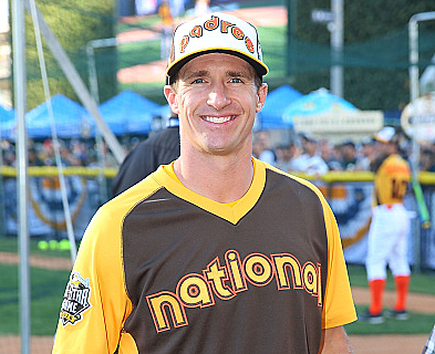 Watch Drew Brees Hit Home Run In Celebrity Softball Game