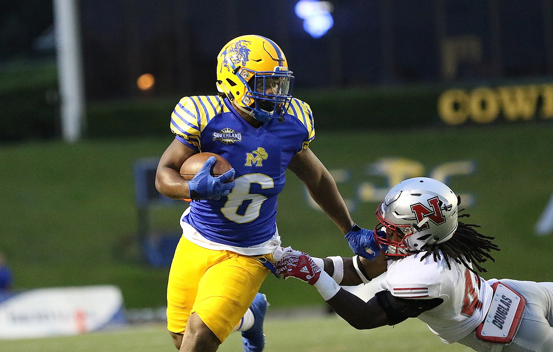 McNeese Football (Photo provided by and taken by Richard J. Martin MSU)