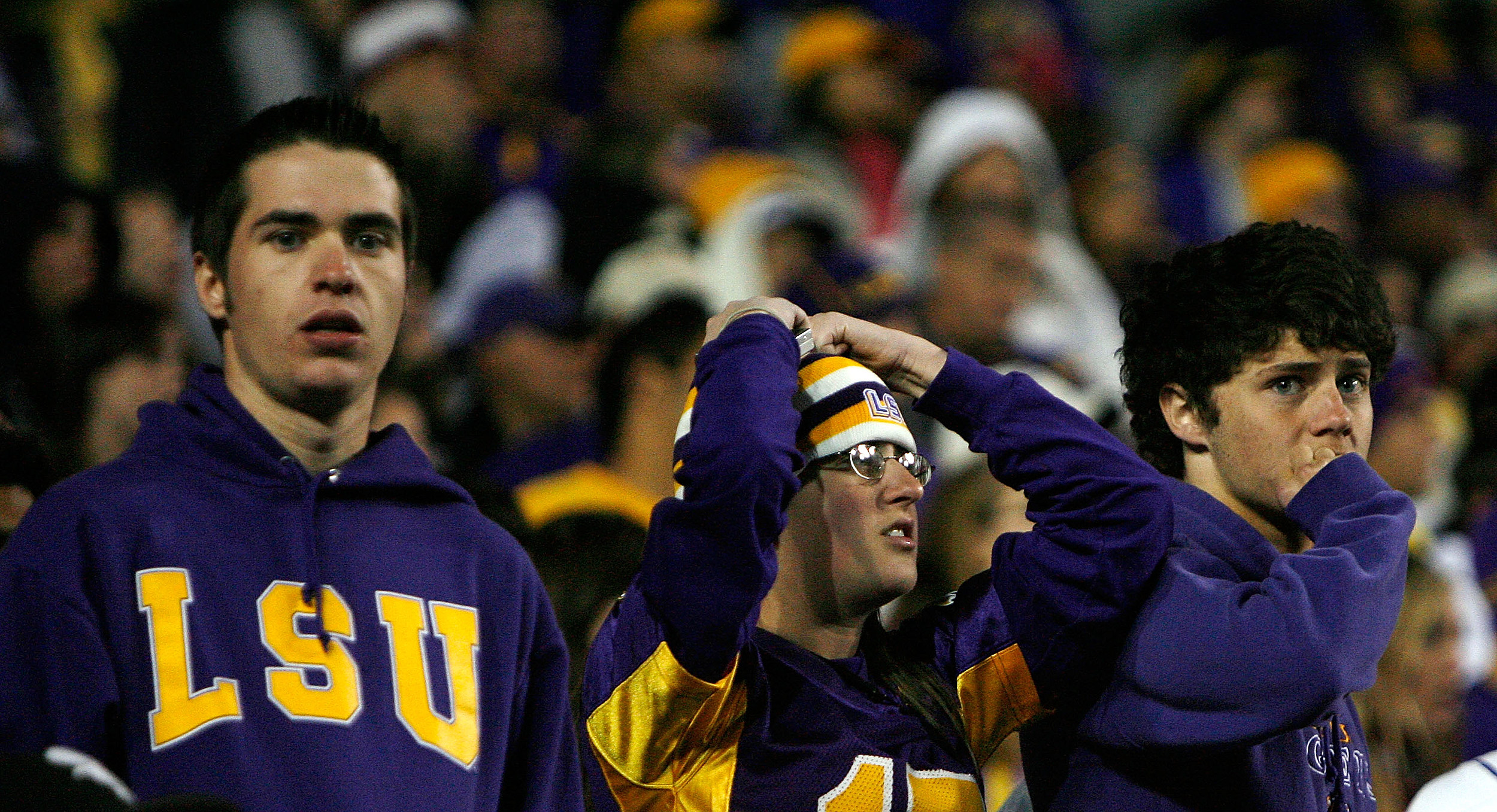 LSU Fans Stunned (Getty Images)