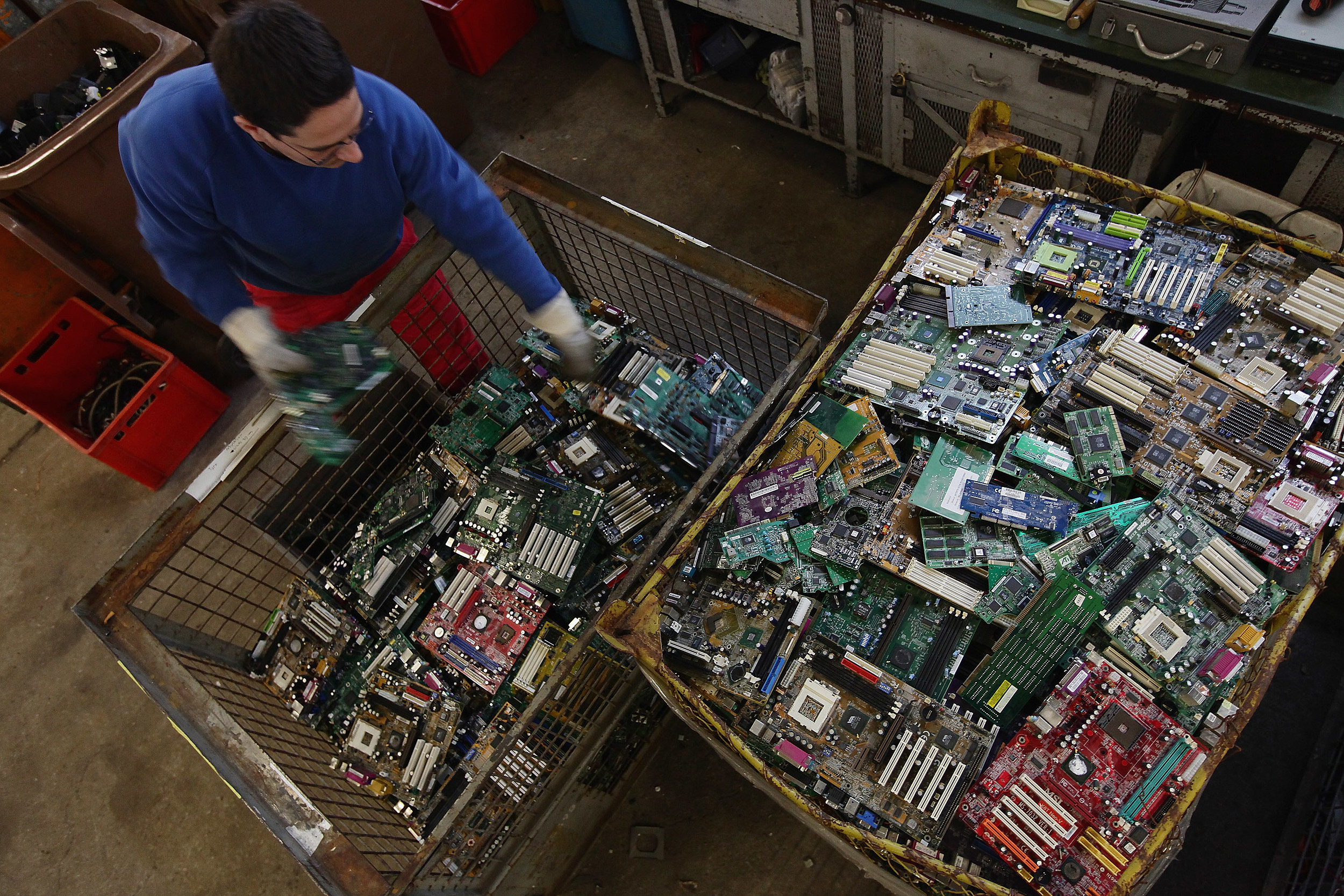 Recycled Electronics (Getty Images)
