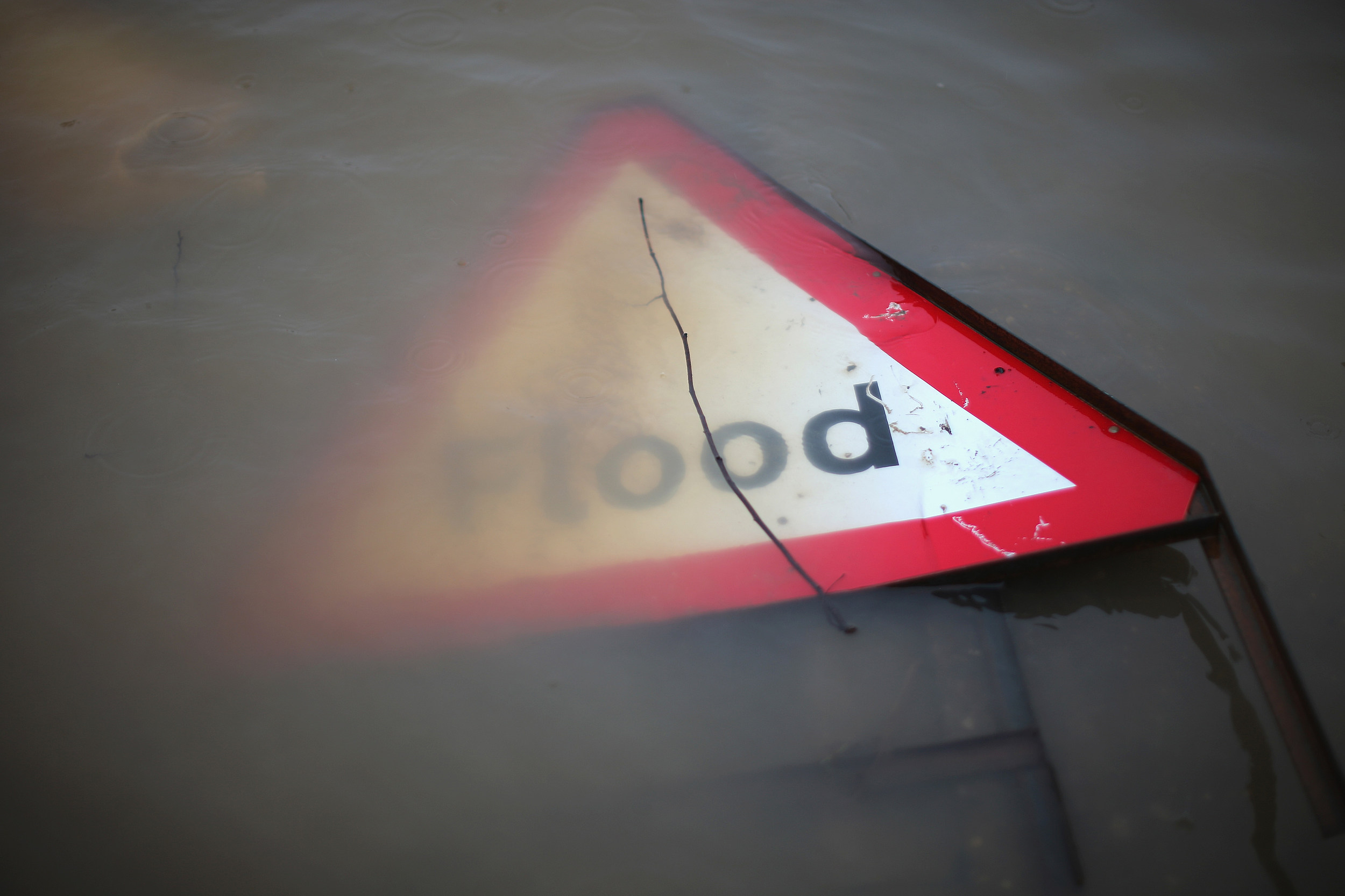 Flood Water Sign (Getty Images)