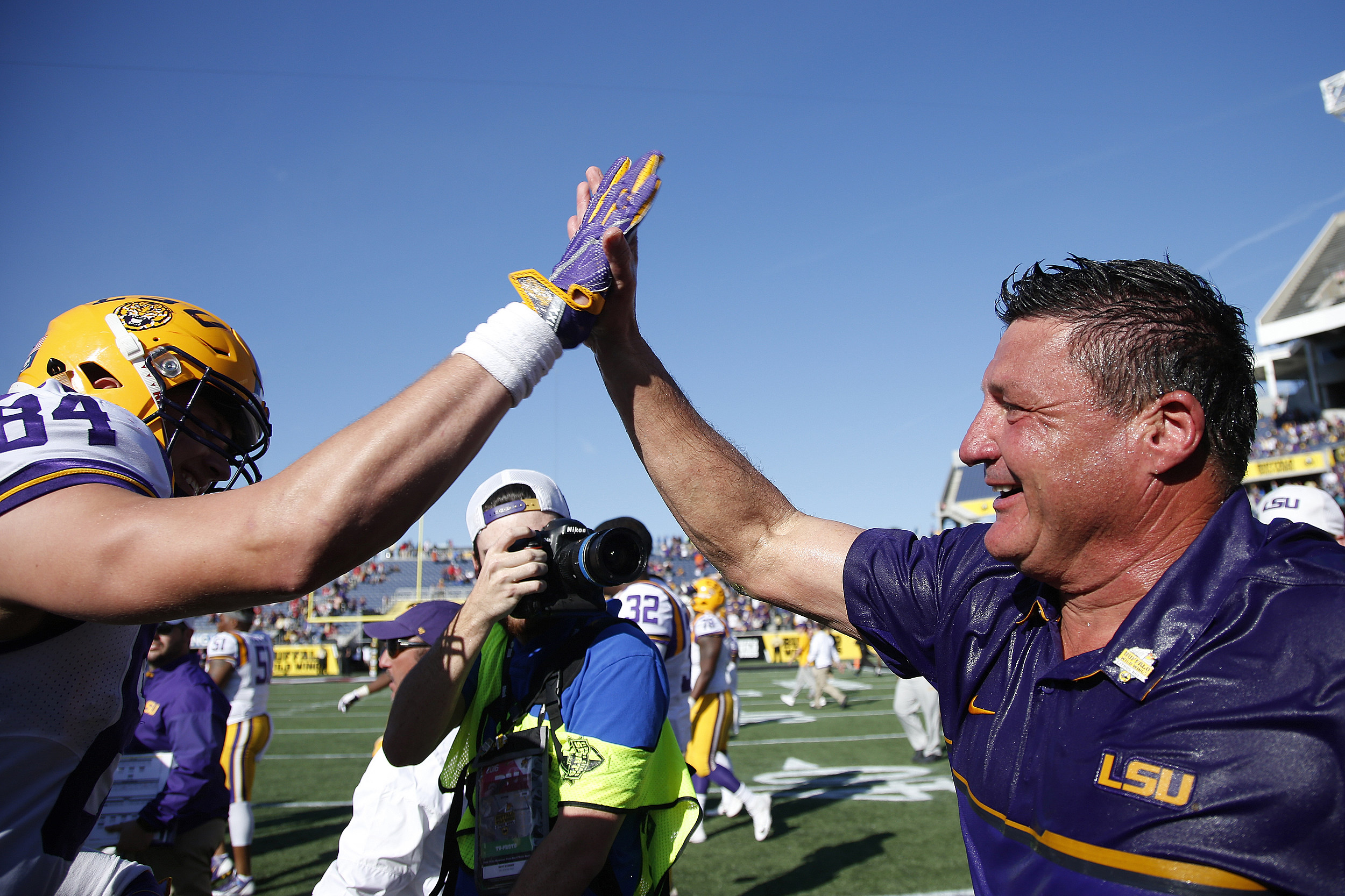 Head coach Ed Orgeron of the LSU Tigers  (Getty Images)