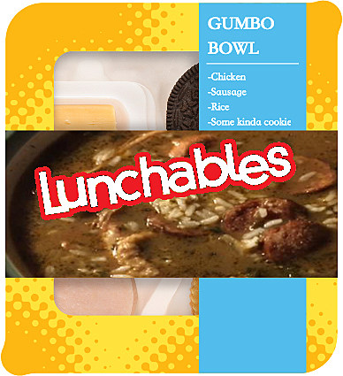 Louisiana Lunchables Gumbo Bowl