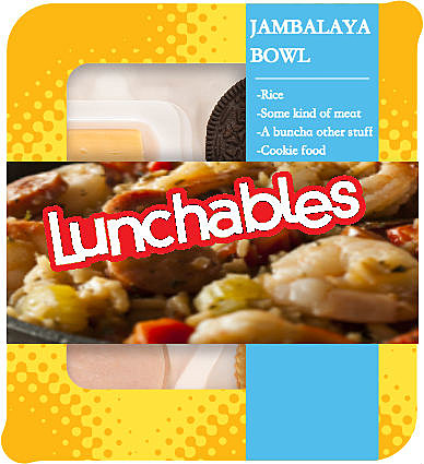 Louisiana Lunchables Jambalaya Bowl