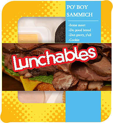 Louisiana Lunchables Po' Boy Sammich
