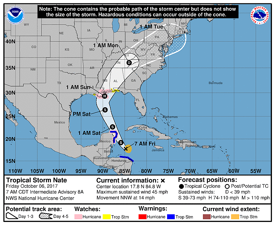 Tropical Storm Nate (National Weather Service)