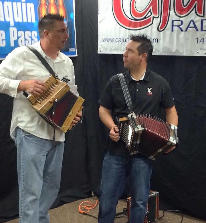 Mike Soileau With Kevin Naquin (Photo by Scott Lewis TSM)